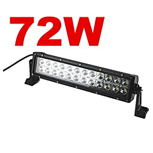 72w led lichtleiste zusatzscheinwerfer arbeitsscheinwerfer. Black Bedroom Furniture Sets. Home Design Ideas