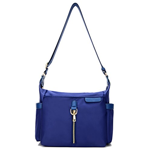 Ladies singola borsa a tracolla,borsa di tela,messenger bag-Blu Blu