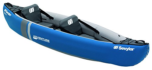 Sevylor Adventure Kayak hinchable, kayak de mar 2 personas, piragua hinchable, canoa inflable, 314 x 88 cm