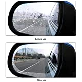 CS Glare 2 Pcs Car Rearview Mirror Film Car Side Mirror Protect Film HD Anti-Water Anti-Mist Film Anti-Fog, Waterproof Rearview Mirror,Car Rearview Mirror Protective Film