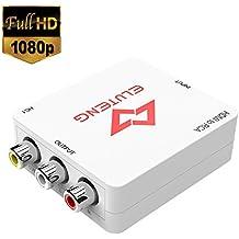 ELUTENG HDMI a AV Adaptador 1080P CVBS AV Composite HDMI Conversor de señal de TV PS3 VHS DVD