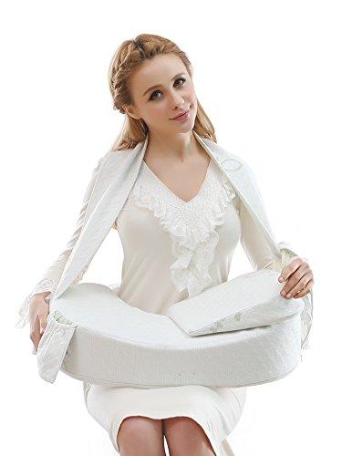 Iyun lento rebote algodón Lactancia Materna En Forma De U Almohada verde verde