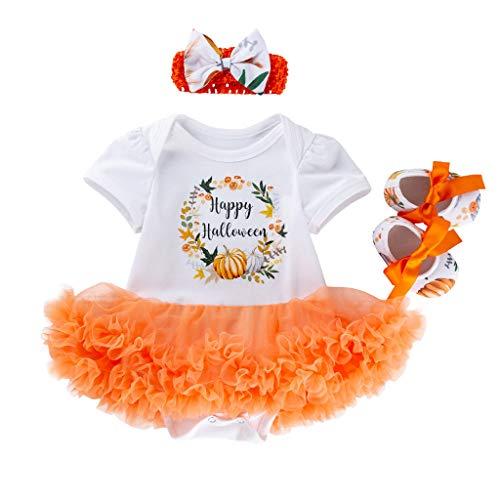 POLP Halloween Bebe Tutu Estampado de Calabaza Monos Mameluco Disfraz Niñas Conjuntos de Calabaza Ropa...