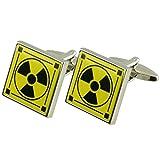 Select Gifts Manschettenknöpfe radioaktiven Manschettenknöpfe~ Atomenergie Kernenergie~ graviert Personalisierte Box