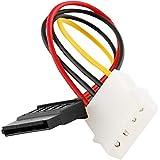 TOOGOO IDE/Molex / IP4 / 4 pin a SATA di alimentazione a 15 pin del connettore del cavo dell'adattatore del convertitore