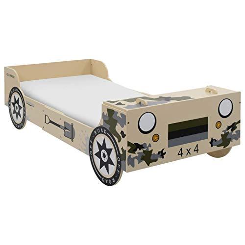 Neuer Eintrag Kinderbett im Geländewagen-Design 90×200 cm Größe Camouflage