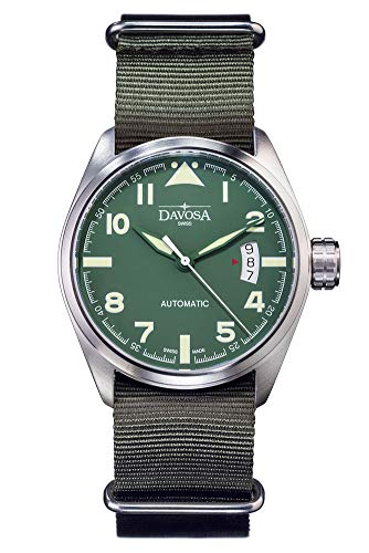 Davosa Automatic Green Military Style Stainless Steel Wrist Watch