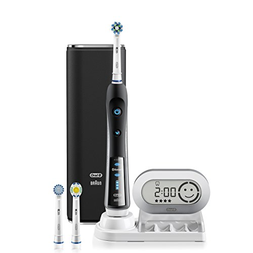 Electric Toothbrush, Oral-B Pro 7000 SmartSeries Black Electronic Power Rechargeable Toothbrush with...