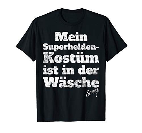 Motto Superhelden Kostüm Party - Superheld Kostüm In Der Wäsche Karneval Shirt
