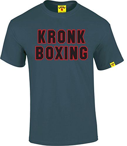 Kronk Gym mens short sleeve KRONK BOXING regular fit cotton t shirt Indigo