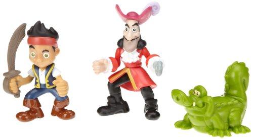 Jake y Los Pirata de Nunca Jamás Mattel W5262 Fisher-Price Disney Figuras de Jake, Capitán Garfio y Cocodrilo Tic Tac (3 piezas)