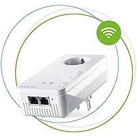 Devolo Magic 2 WiFi: Der schnellste Powerline-Erweiterungs Adapter der Welt mit WLAN-Funktion, bis 2400 Mbit/s, Wifi AC, 2x Gigabit LAN-Anschluss, integrierte Steckdose und Mesh WiFi
