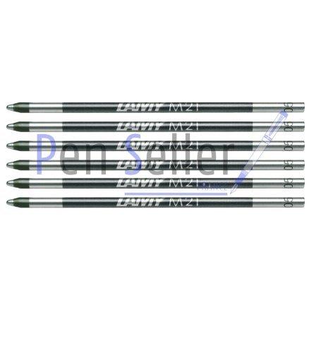 Lamy: Mini-Kugelschreibermine M21: Farbe: schwarz, Strichbreite: M, 6er-Set. Für Multipen Lamy, Parker, Rotring.