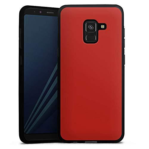 DeinDesign Silikon Hülle kompatibel mit Samsung Galaxy A8 Duos 2018 Case Schutzhülle Rot Red Karminrot