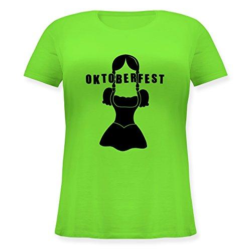 Oktoberfest Damen - Hipster Bayerin Oktoberfest - Lockeres Damen-Shirt in großen Größen mit Rundhalsausschnitt Hellgrün