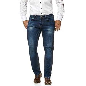 Jeel Herren-Jeans - Regular Straight Cut - Stretch - Jeans-Hose Basic Washed