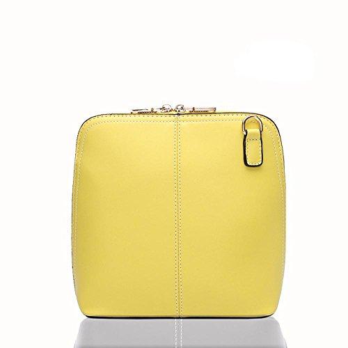 GBT Art und Weise Shell kleine quadratische Tasche Schultertasche Yellow
