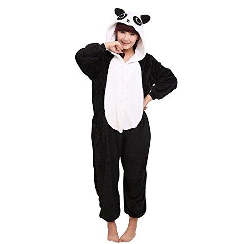 Unicsex Süß Tier Overall Pyjama Jumpsuit Kostüme Schlafanzug Für Kinder / Erwachsene Panda