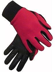 Mesdames cuir Envers en polaire hiver gants d'équitation mains sur Equestrian