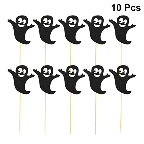 Toyvian Halloween Ghost Cake Topper Cupcake Topper Lebensmittel Obst Picks Party Supplies 10 Stück