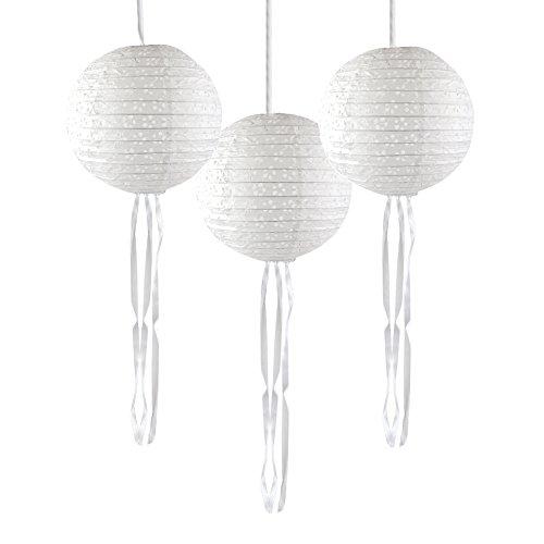 Talking Tables Modern Romance lanterne di carta bianca con dettagli a forma di farfalla, 3pezzi, multicolore
