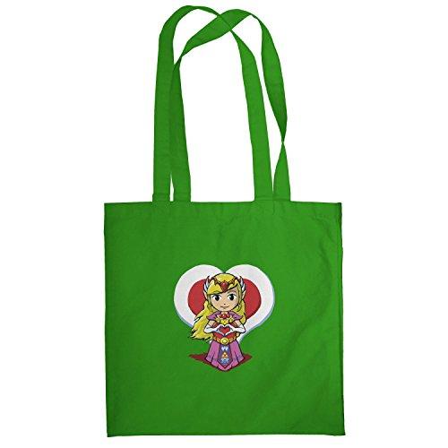 Texlab–Princess Love–sacchetto di stoffa Verde