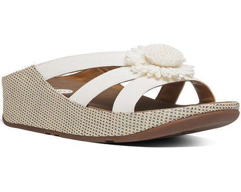 Rosita FitFlop Slide Sandales Blancs Urbains Urban White