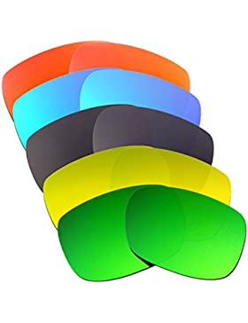 Hkuco Plus Mens Replacement Lenses For Oakley TwoFace Red/Blue/Black/24K Gold/Emerald Green Sunglasses