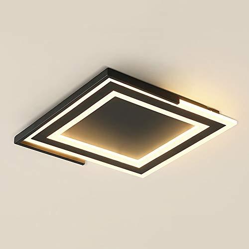 GBLY led Deckenleuchte dimmbar Deckenlampe moderne Deckenbeleuchtung Wohnzimmerlame mit Fernbedienung, für Kinderzimmer Schlafzimmer Wohnzimmer Cafe (Schwarz, Mittel)