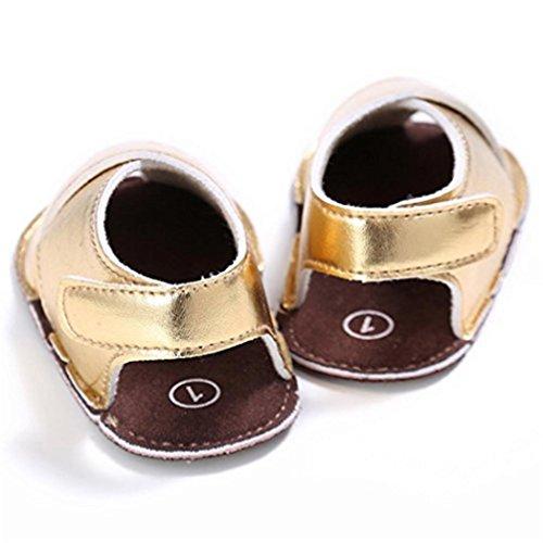 Gemini_mall , Baby Mädchen Lauflernschuhe Gold