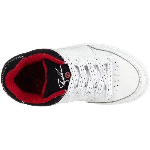 Etnies SHECKLER 430206, Unisex–Bambini Scarpe da ginnastica–skateboarding weiss (white/red/black174)