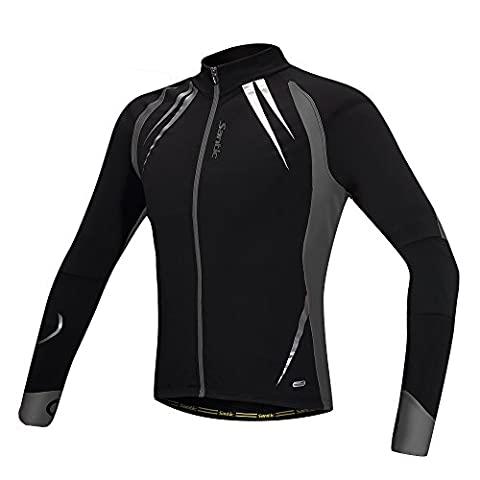 Santic Men's Cycling Jackets Windproof Long Sleeve Jersey Winter Breathable Reflective