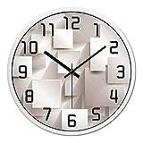 Reloj de pared de metal moderno silencioso sin tictac DIY para salas de estar Cocinas de oficina (negro)