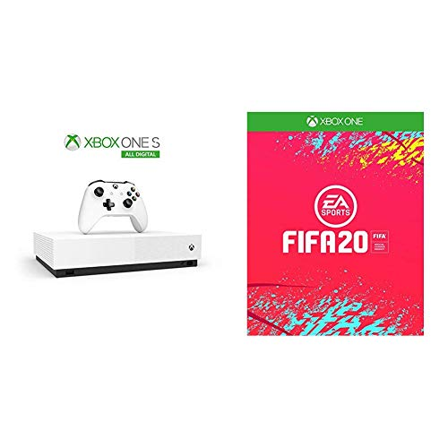 Xbox One S 1TB - All Digital Edition + 3 Digital Games (Forza Horizon 3, Minecraft, Sea of Thieves) + FIFA 20
