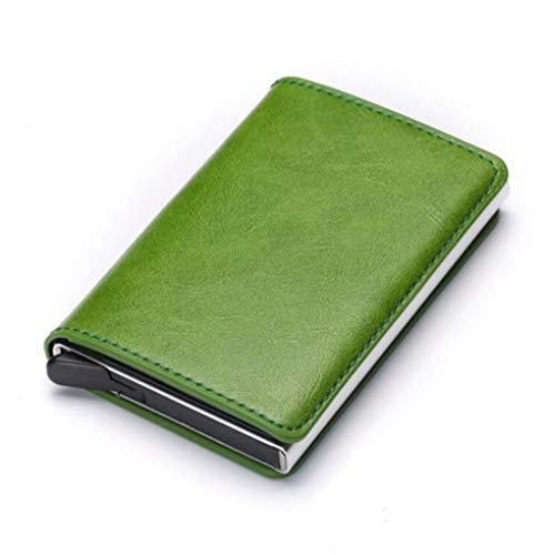 zlyhk Ledertasche Diebstahlsicherung Männer Vintage Kreditkarteninhaber Sperrung Brieftasche Leder Unisex Sicherheit Brieftasche Leder Frauen Magie Brieftasche (Für Magie Brieftasche Frauen)