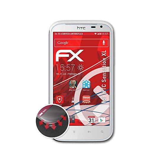 atFoliX Protettiva di Schermo Alta Protezione per HTC Sensation XL Anti-Shock Pellicola Protettiva, antiriflesso e Flessibile FX Pellicola Protettiva (3X)