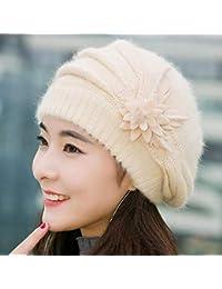 ZyuQ Gorro de lana Gorro de Invierno para Mujer Gorro de niña de Punto para  Mujer 1706338b821