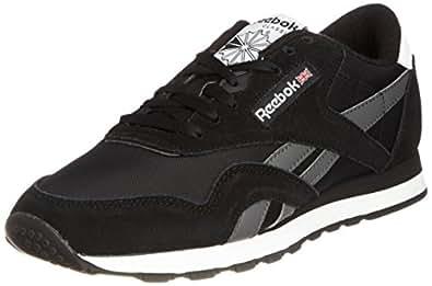 Reebok Classic Nylon R13, Herren Sneakers, Schwarz (Black/Rivet Grey/White), EU 40.5 (UK 7/US 8)