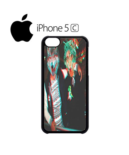 3D Wolves Wolf Head Cell Phone Case Cover iPhone 5c Black Weiß