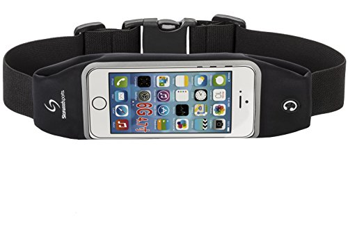 Running Belt Waist Pack for iPhone 6 with Touchscreen Window (Black, 4.7 Inches)