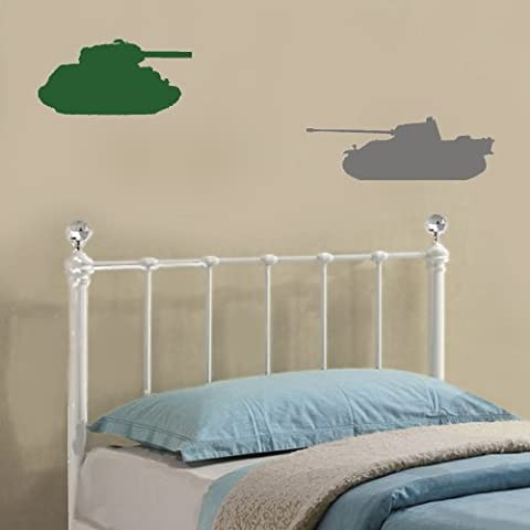 Axe et Alliés Army Tank Stickers–Sticker mural en vinyle facile à appliquer et amusant de décorations pour la maison d'amélioration et un excellent cadeau d'anniversaire spécialement pour enfants.