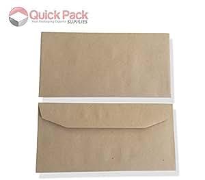 - Kraft-Lot de 50 enveloppes DL auto-adhésives (Commercial)