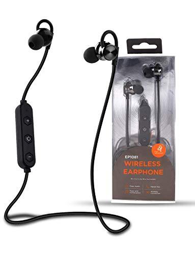 Unico - Bluetooth Kopfhörer mit Mikrofon Schlanke Leichte Drahtlose Kopfhörer Ohrhörer Bluetooth 4.2 Magnetisch Sichere Stereo Im-Ohr-Sportkopfhörer für Laufen Radfahren Fitnessstudio Reisen, Schwarz Wasserdicht Stereo-gehäuse