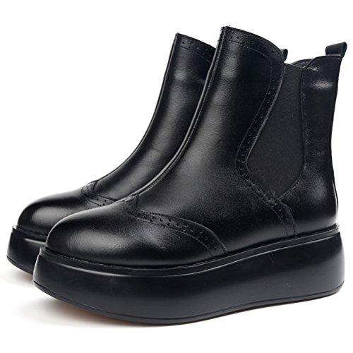 MatchLife femme martin fond épais chaussures bottes Style 1 Fleece Black