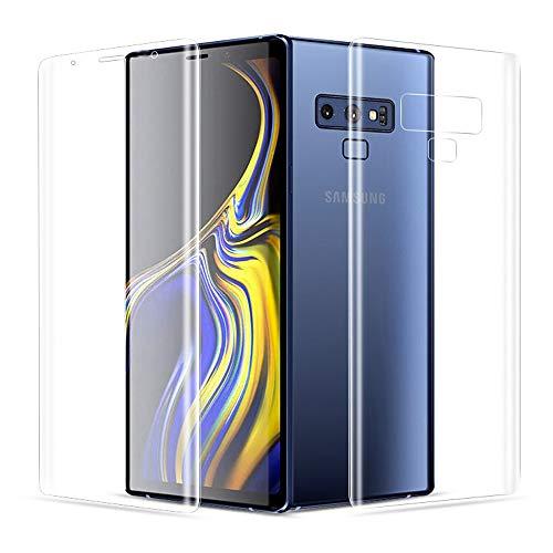 ONICO Bildschirmschutzfolie Für Samsung Galaxy Note 9 Folie Schutzfolie (Nicht Panzerglas),3D Selbstheilung Kompatibel mit Hülle Vollständige Abdeckung Komplette Bildschirm (Vorne HD und Hinten)