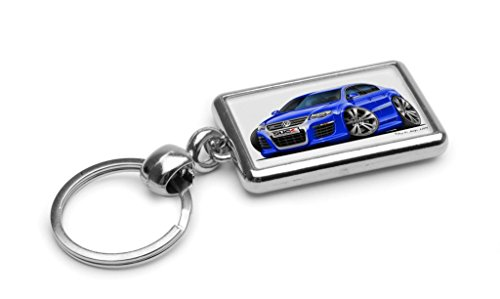 wickedartz-cartoon-car-volkswagen-vw-passat-r36-blue-premium-metal-key-ring