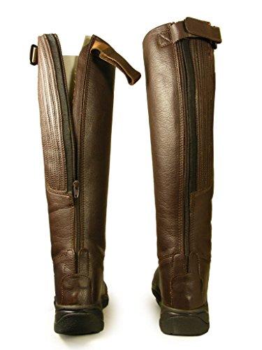 Damen-Reitstiefel, in Leder-Optik, für Turniere und langes Reiten, Stiefel, Größe 36-43 Braun