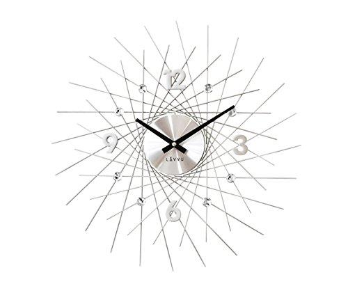 Wanduhr Uhr Modern Style Design Crystal Lines Quarzuhr Quarz Kristalle  NEUHEIT