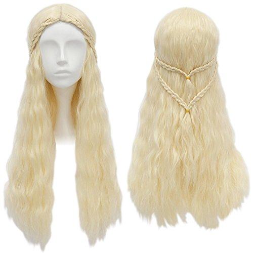 wertige Perücke von Daenerys Targaryen (Daenerys Kostüm Perücke)