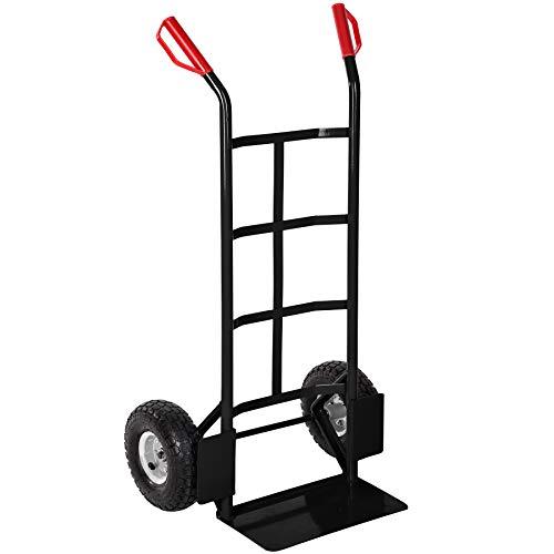 TecTake Carrello portacasse manuale da trasporto ruote pneumatiche portata 200kg